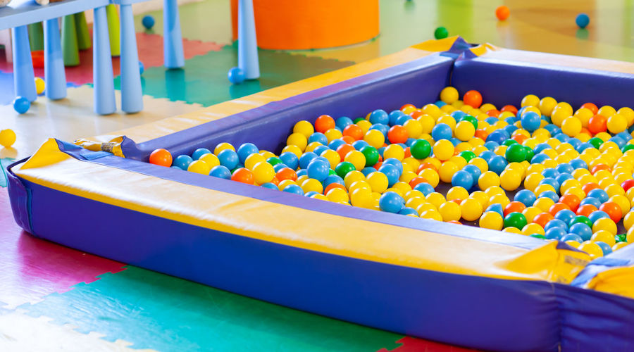 View of ball pool