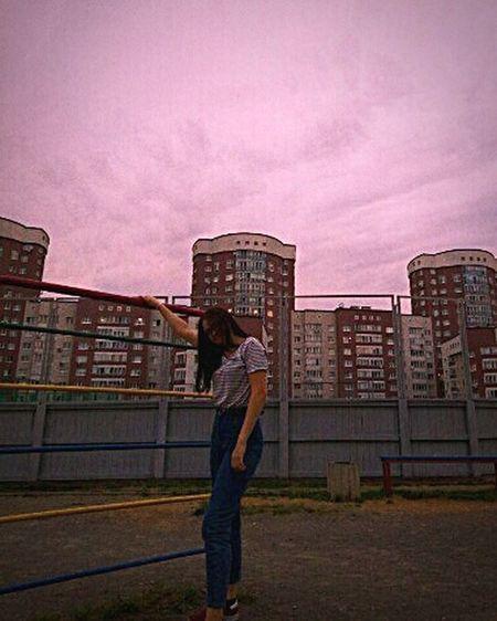 City Men Standing Sky