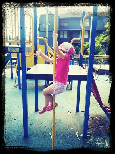 Hanging Out Kids At The Park Beautiful Girl