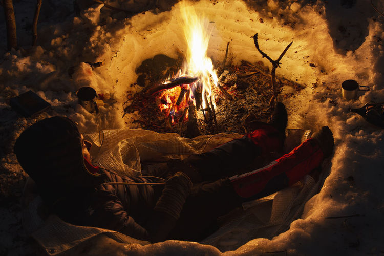 Cold Winter ❄⛄ Cold Winter Bushcraft Outdoors Hiking Hikingadventures Mountain Mountain Peak Camping Campinglife Beauty In Nature EyeEm Best Shots Nature Nature_collection Nature Photography Hiking Adventures Snow Snowing Fire Night Forest Photography Winter Forest Camping Life EyEm Selects Campfire Firewood