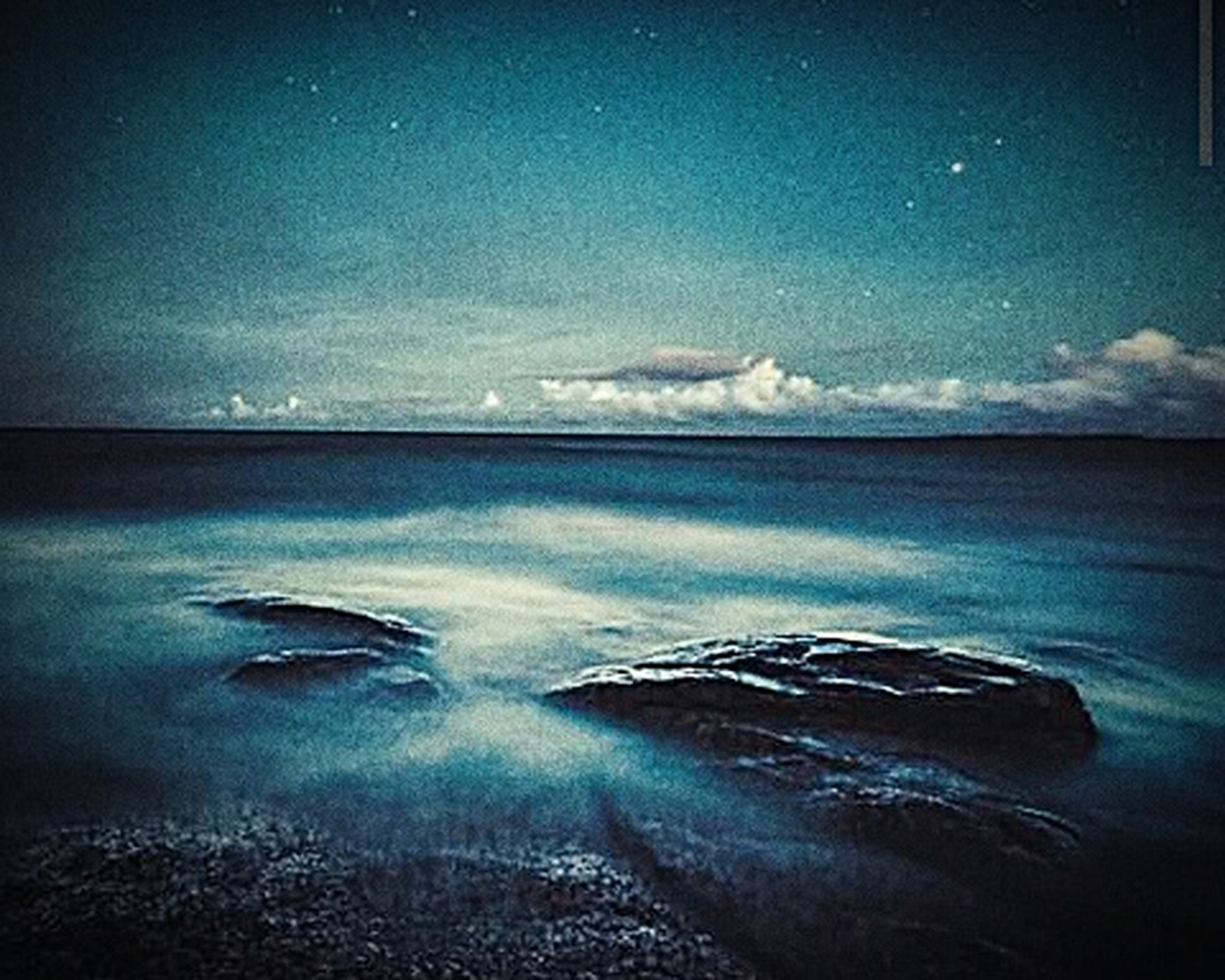water, sea, scenics, horizon over water, beauty in nature, tranquil scene, blue, tranquility, nature, beach, sky, wave, shore, idyllic, auto post production filter, surf, coastline, no people, outdoors, ocean
