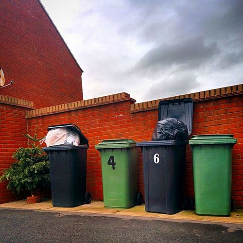 After Christmas European  Green Capital 2015 Bristol challenge day7 city england uk patchway garbage Christmas tree