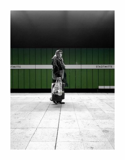 The Street Photographer - 2017 EyeEm Awards One Person Only Women One Woman Only Street Urban Streetphotography Urbanphotography City Photo Taking Photos Trainstation Full Length Day People Adult Adults Only One Young Woman Only Lonley Integration Silence Shopping ♡ Public Transportation Stuttgartmobilephotographers Stuttgart