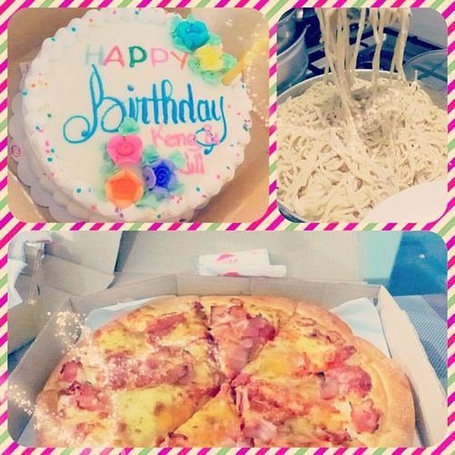Post and advance birthday celebration!!! Thanks YPs! @lilacbataller @nicakristy @gracecolesio Deb Jill Jack Jeff with @rockamiel Iana ESP thank you to Tita Edith for the yummy pasta hehehe 😃😍😱😊🎉🎁🍝🍴📷🍰🎂 DQicecreamCake Pizza bday2013 Midweek 20130424