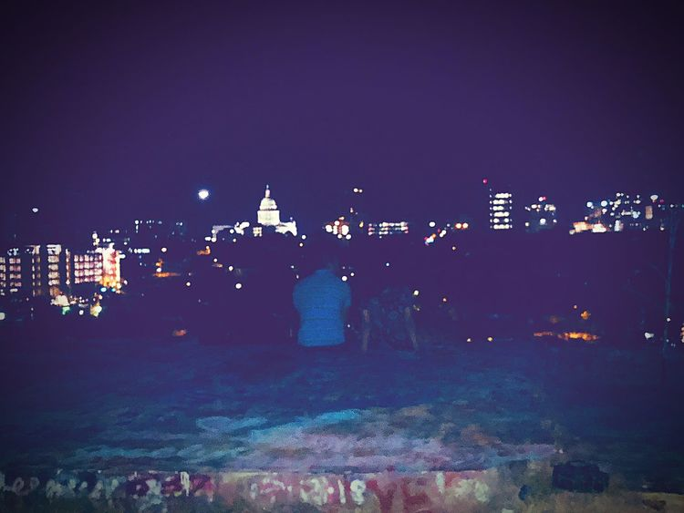 Who better to see the city with , than the one you love? Couple Cuteness Sights & Views  Night Illuminated Sky Architecture City Building Exterior EyeEmNewHere Nightlife Light Cityscape Built Structure Outdoors