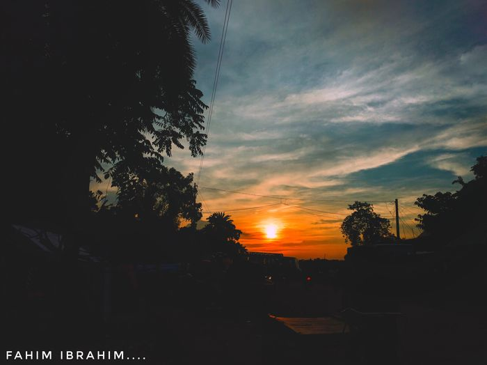 @anickchowdhurymp Eyeembangladesh Mobilephotography Tree Sunset Sky Silhouette Dramatic Sky Cloud - Sky Nature Beauty In Nature No People Scenics Tranquility Outdoors