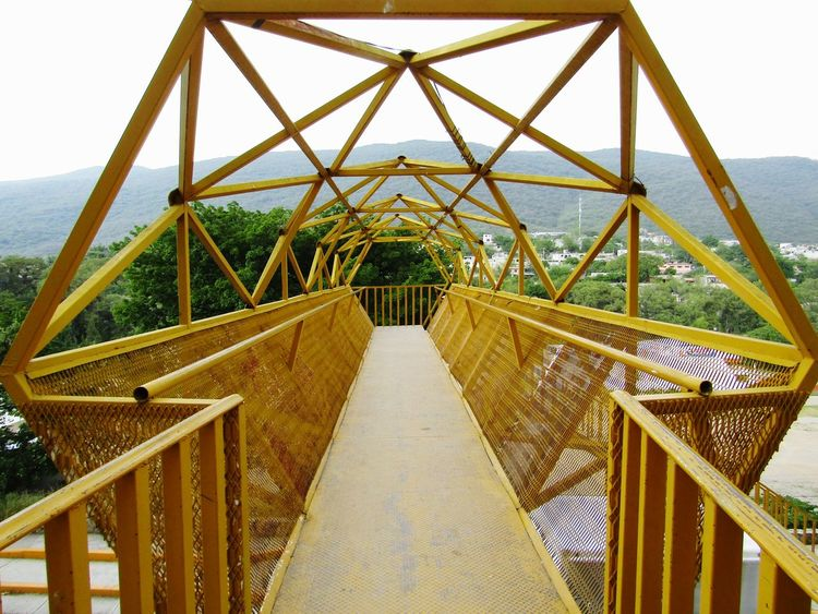 Bridge - Man Made Structure Built Structure Outdoors No People Sea Day Structure Photography Yellow Colors Yellow