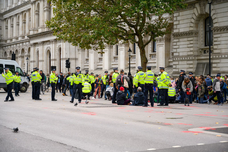 Group of people in city street