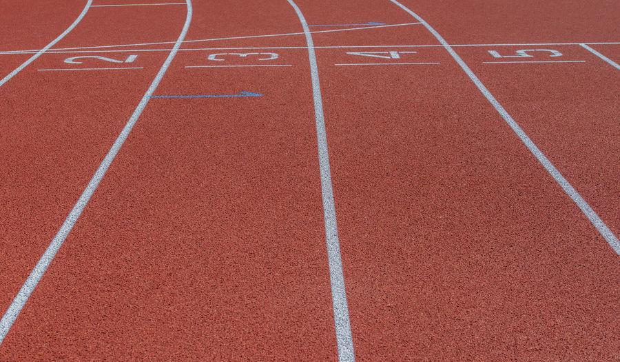 View of running tracks