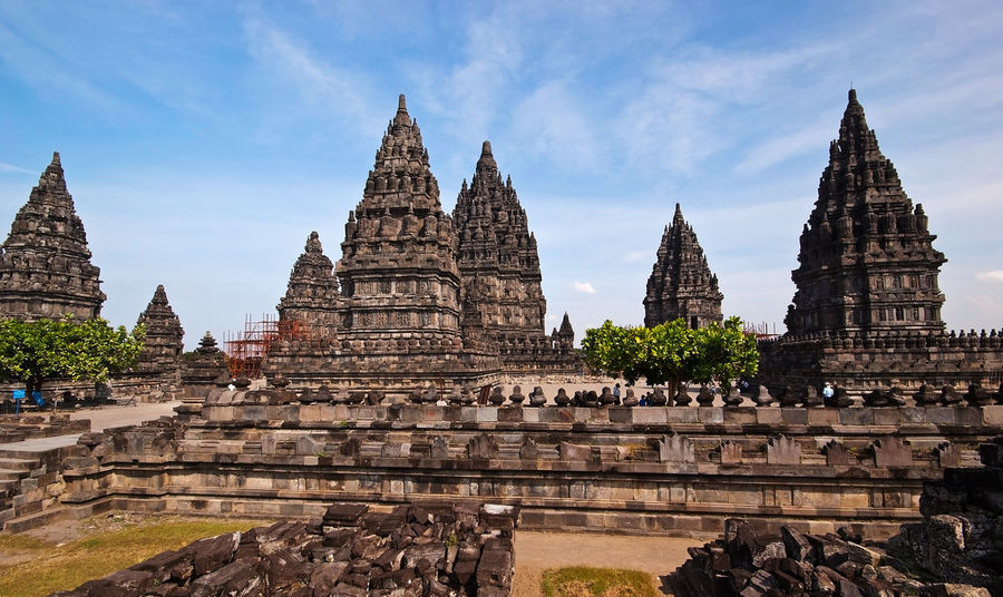 Prambanan Temple in Yogjakarta, Indonesia. Ancient Architecture Building Exterior Built Structure Cultures Day Hinduism History INDONESIA Jakarta Landmark No People Outdoors Pagoda Place Of Worship Prambanan Temple Religion Sky Spirituality Tourism Travel Destinations Vacations Yogjakarta
