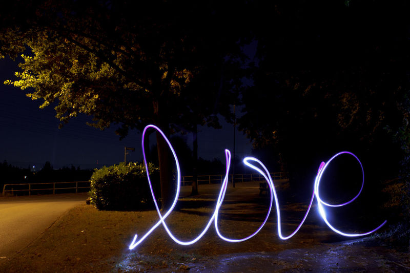 Night Light Trail Love