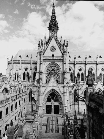 Architecture Building Exterior Façade Famous Place Local Landmark Arch Quito Ecuador Basilica