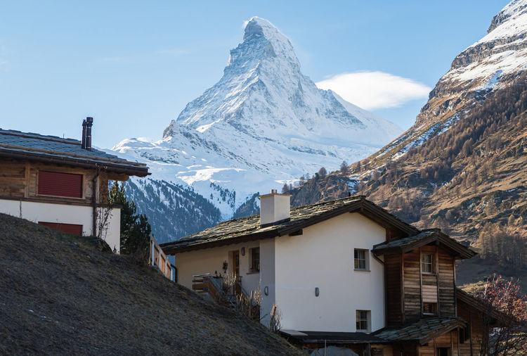 Matterhorn peak at zermatt, switzerland