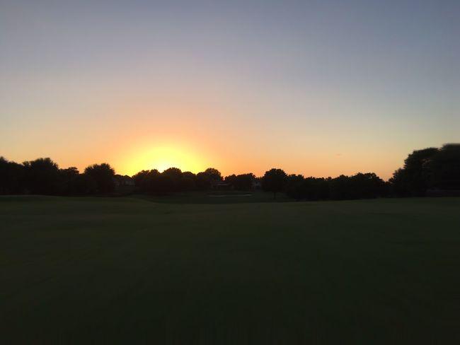 Hidden Gems  Showcase August Texas Landscape Grass Texas Evening Sunset Sunsets Golf Golf Course Fairway Tree Trees Simplicity Background Backgrounds