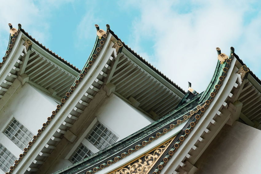 Osaka Castle Architecture Building Exterior Built Structure Low Angle View Religion Sky Travel Destinations The Architect - 2018 EyeEm Awards