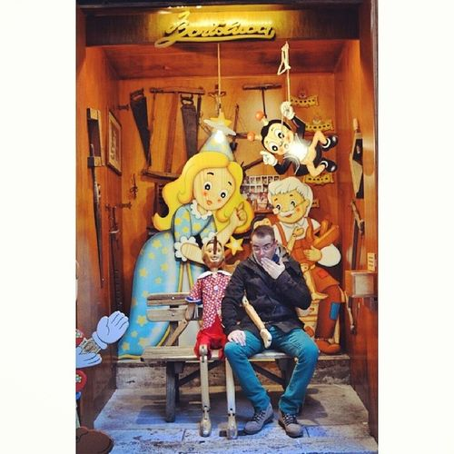 Trip Bartoluco Shop Rome Italy fun friends wood Pinocchio fairy