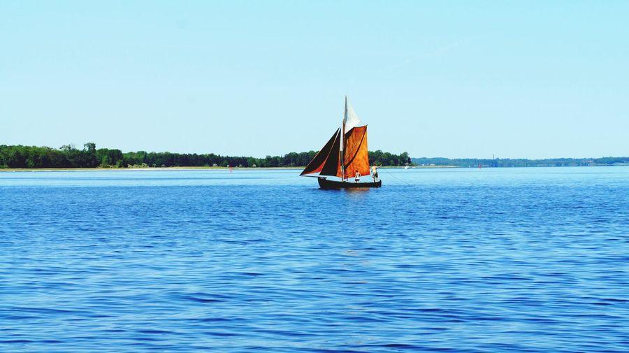 Sailing boat at