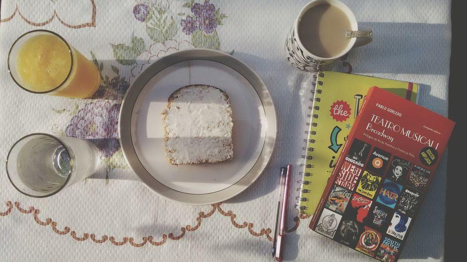 Buen dia Breakfast Book Musical Theater  Orange