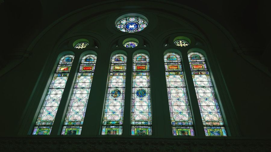 Tranquil Scene Historic Building No People New York City Stained Glass Stained Glass Window Church Architecture_collection 10