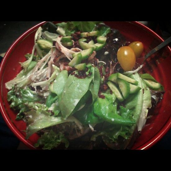 Dinner this evening thanks to @jessicalau1 Caesarsalad Instafood POTD Foodporn