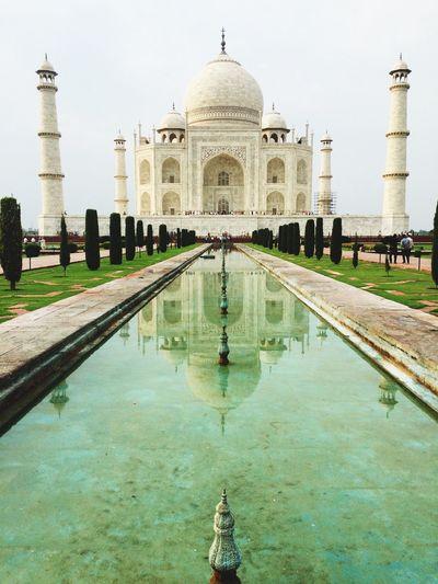 View Of Taj Mahal Against Clear Sky