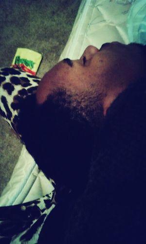my baby sick  he fell asleep on my leg