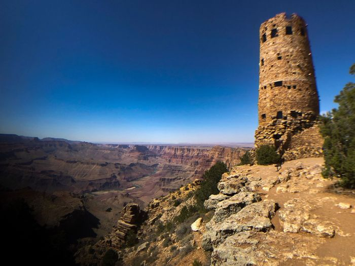 Desert View Watchtower, Grand Canyon National Park Watchtower Grand Canyon Mary Coulter Architect National Park Sky Architecture History Built Structure The Past Nature Blue Travel Destinations Scenics - Nature Sunlight Travel Clear Sky Tower No People The Great Outdoors - 2018 EyeEm Awards The Traveler - 2018 EyeEm Awards