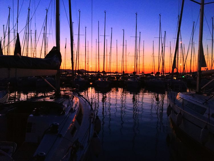 Sunset Nautical Vessel Reflection Transportation Water Mode Of Transport Sky First Eyeem Photo