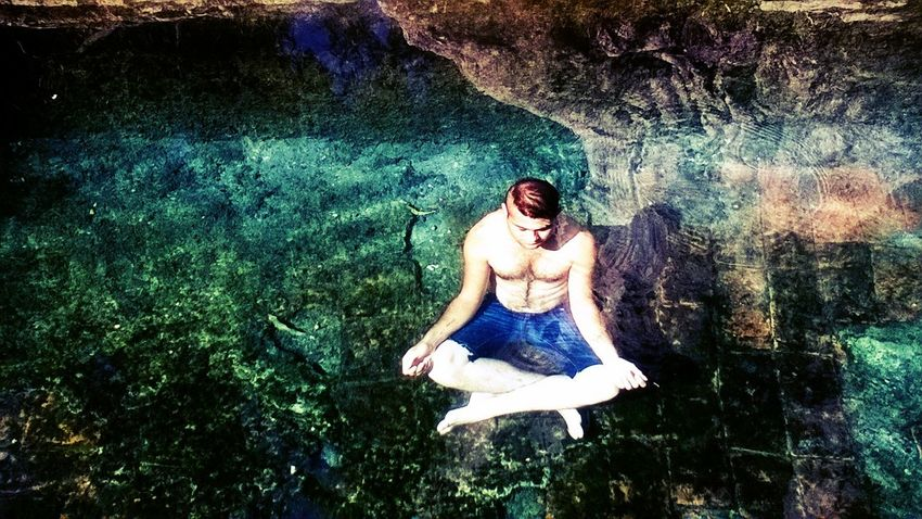 Meditation under water ' Lifestyles Person Outdoors Summer Carefree