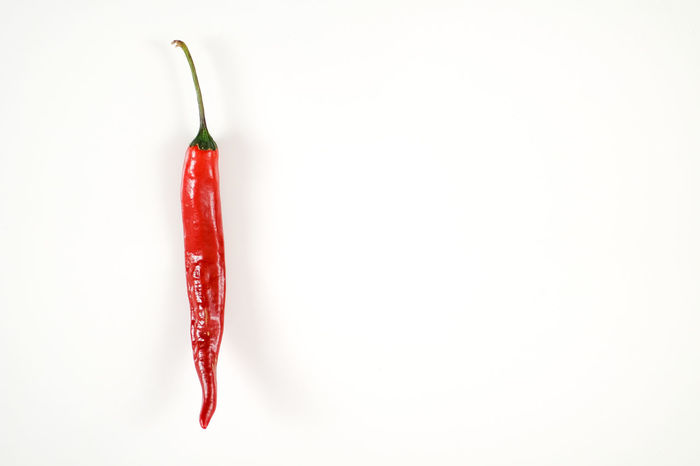 Cayenne Pepper Copy Space Herbs Herbs And Spices Hot Latin America Mexico Spicy Spicy Food Chilli Chillies Red Food Heat Hot Food Ingredient Jalapeños One Pepper Red Red Chili Pepper Room For Copy Spice White Background