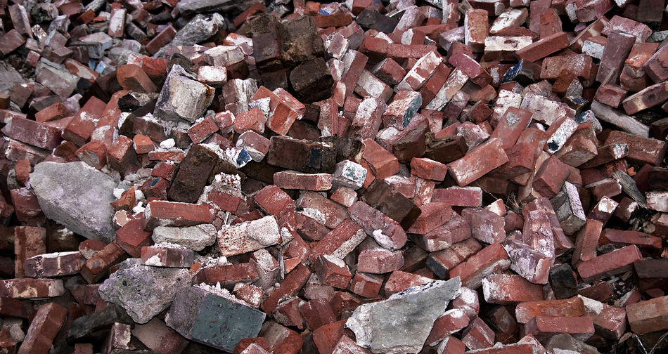 Brick rubble