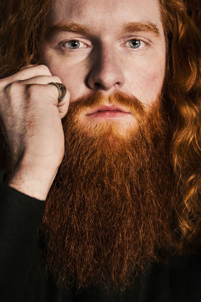 Big Beard Blue Eyes Close-up Hand Moustage One Man One Man Only Portrait Red Beard Red Hair Redhead Serious Viking Young Man