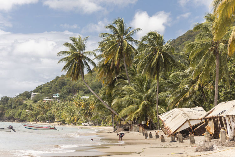 Beach after