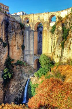 Ronda Spain Spain♥ Ronda Bridge Roman Architecture Roman Bridge Architecture Built Structure Building Exterior History Ponte Bridge Wall - Building Feature Clear Sky Surrounding Wall Outdoors Arch Sunny The Past Day Sky Fort Weathered Obsolete Tranquility First Eyeem Photo