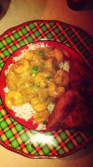 Cooking Chicken Wings Shrimp Etoufee