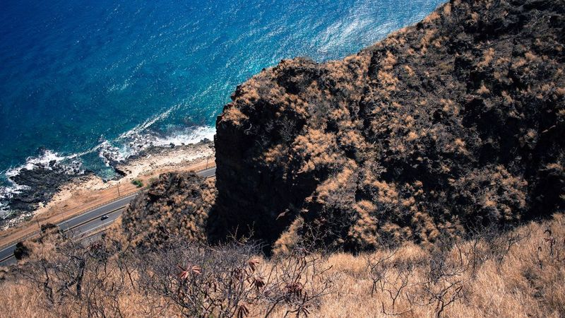 EyeEm Selects Sea High Angle View Nature Rock - Object No People Cliff Outdoors Beauty In Nature Day Scenics Water Wave Astronomy Sky