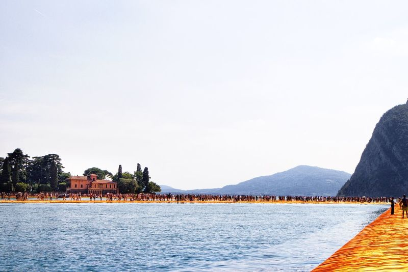 Fine Art Photography Lago Iseo Italy Christo Javacheff Floating Piers Landscapes On The Way Travel Art ArtWork Arts Culture And Entertainment Artistic Christo And The Floating Piers The Floating Piers Iseo Lake