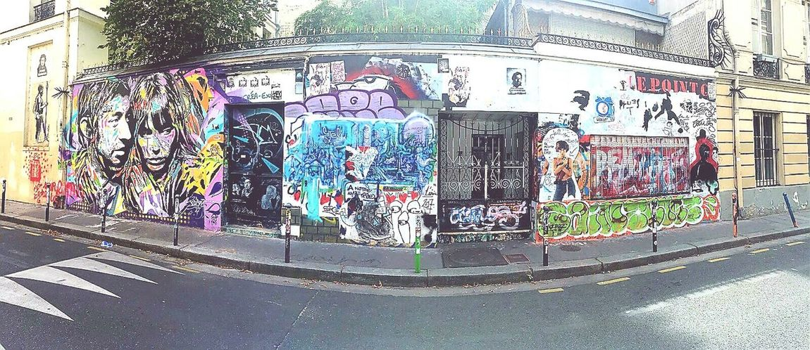 Graffiti Multi Colored Gainsbourg's House Paris