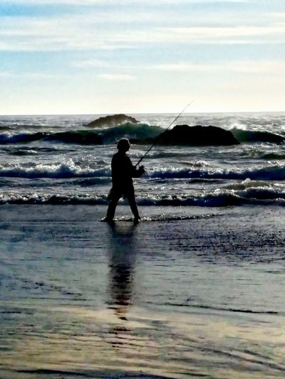 Silhouette & Reflection... Sealrockoregon AndroidPhotography ToolWiz Photos Photo Editor Fishing Tranquility My Photo Album ♡