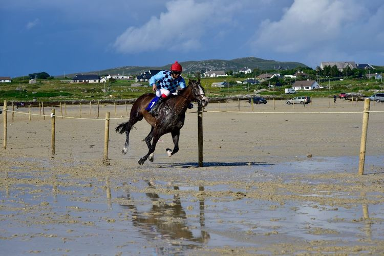 Ireland Connemara Enjoying Life Reflection Horseback Riding Horse Photography