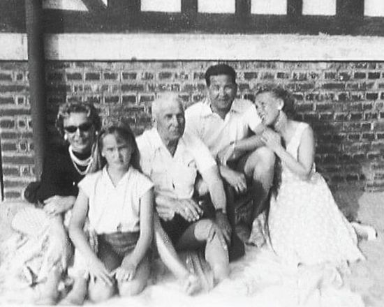 Oldpicture Russian Family Trouville Fifties Grand Parents