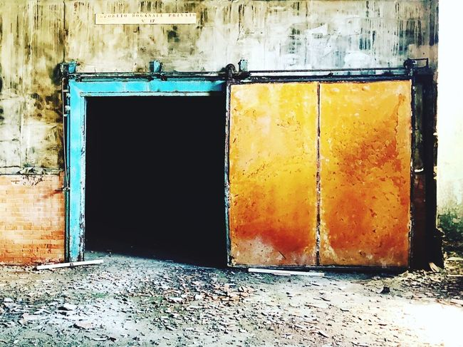Built Structure Architecture Entrance Building Exterior Door No People Building Old Damaged Wall - Building Feature Abandoned Yellow Window