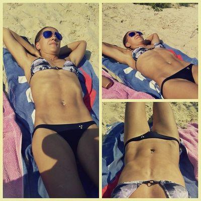 Пляжный день... лето пляж кончазаспа загораем речка днепр солнце жара