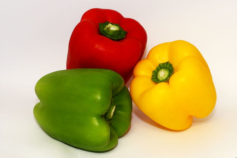 Capsicum colourful Peppers Red Pepper Yellow Pepper Bell Pepper Capsicum Capsicum Pepper Close-up Food Food And Drink Freshness Green Pepper Healthy Eating Healthy Food No People Pepper Raw Food Red Red Bell Pepper Still Life Studio Shot Tasty Variation Vegetable Wellbeing Yellow Yellow Bell Pepper