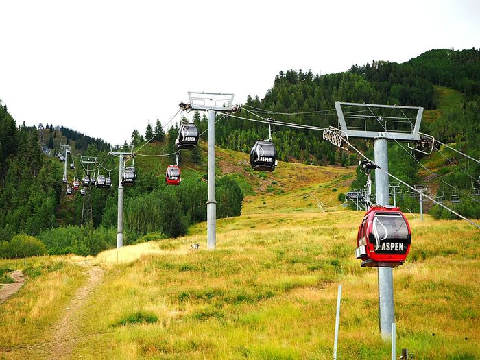 Fall is coming Aspenmountain Aspen Colorado Fall Gondola Hiking Vacation Mountains