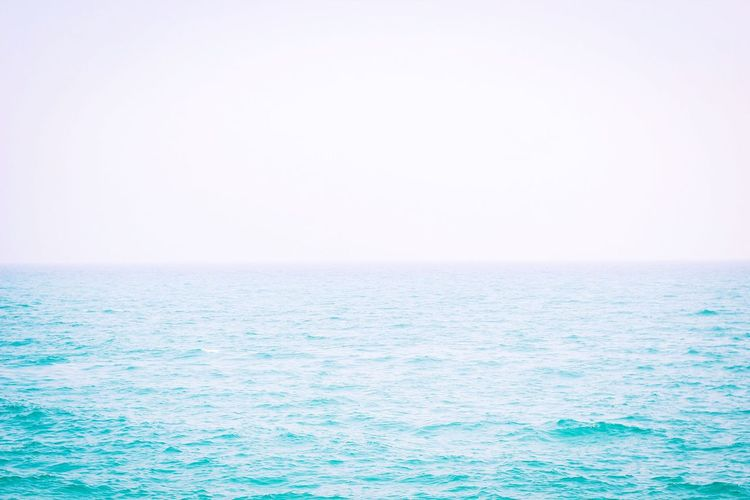 In you I'm lost Sea Horizon Over Water Water Scenics Clear Sky Nature Tranquil Scene Tranquility Sky Day Outdoors No People Beauty In Nature
