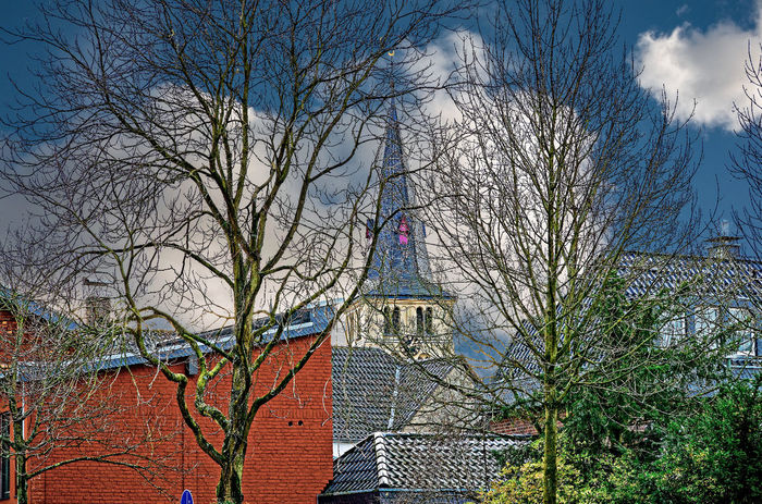 St. Joseph-Pfarrkirche in Lank-Latum Architecture Bare Tree Building Exterior Built Structure Church Day Kerk Kirche Low Angle View Meerbusch-Lank Nature No People Outdoors Sky Tree