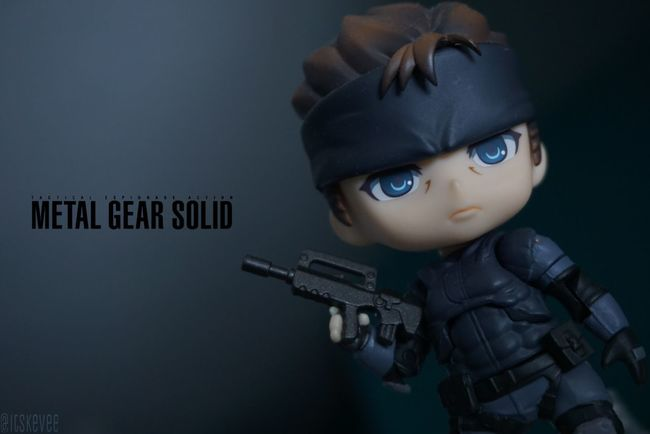 Close-up Metal Gear Solid Solid Snake Nendoroid Figure Focus On Foreground Text Anime Indoors  Toy