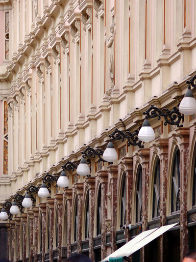 Lamps in row at galeries royales saint-hubert