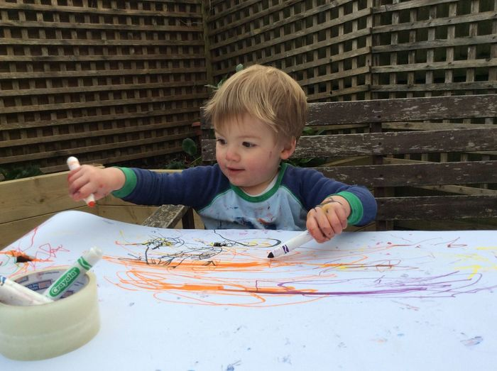 EyeEm Selects toddler drawing Blond Hair Art And Craft Drawing - Activity Indoors  Table One Person Headshot Childhood Casual Clothing Paper Boys Leisure Activity Concentration Lifestyles Real People Portrait Child Day People Be. Ready.